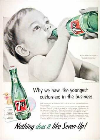 Just Perfect advertising children drinking