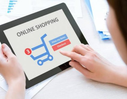 A person shopping online - E Commerce website